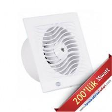 İnce Sessiz Banyo Wc Fanı 200'lük (D-BTA-200)