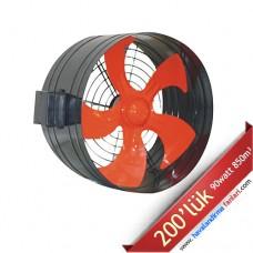 200'lük Boru Tipi Dıştan Rotorlu Kanal Fanı
