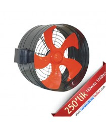 250'lik Boru Tipi Dıştan Rotorlu Kanal Fanı
