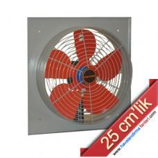 25 cm'lik Kare Kasa Metal Sanayi Aspiratörü