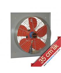 35 cm'lik Kare Kasa Metal Sanayi Aspiratörü