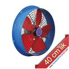 40 cm'lik Aksiyel Sanayi Aspiratörü (Ön Arka Kafesli)