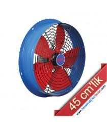 45 cm'lik Aksiyel Sanayi Aspiratörü (Ön Arka Kafesli)