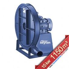 15 KW 1150 m³ Yüksek Basınçlı Körüklü Salyangoz Fan