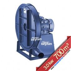 3 KW 700 m³ Yüksek Basınçlı Körüklü Salyangoz Fan