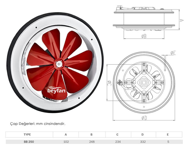 25 cm baca aspiratörü