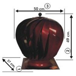 Esmatik A Modeli Çap 37 Cm Döner Doğal Baca Aspiratörü