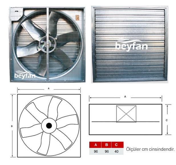 10.500 m³/h Panjurlu Sera Fanı